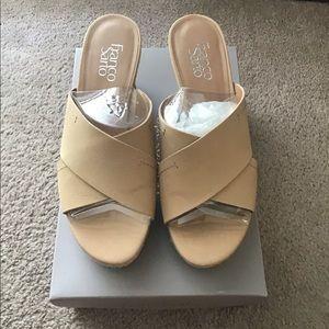 Franco Sarto Cork Wedge Heels Size 8.5